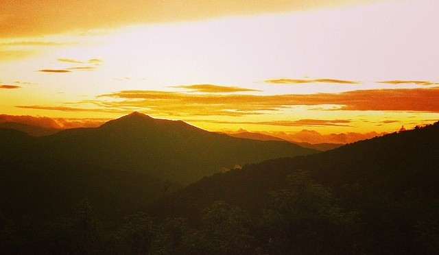 Land of the Sky:  Sunset on the Blue Ridge Parkway