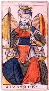 Image result for justices tarot card