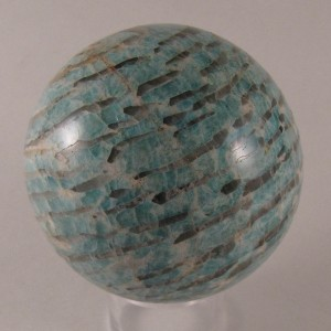 "See this sphere and other ""graphic amazonite"" by clicking the photo."