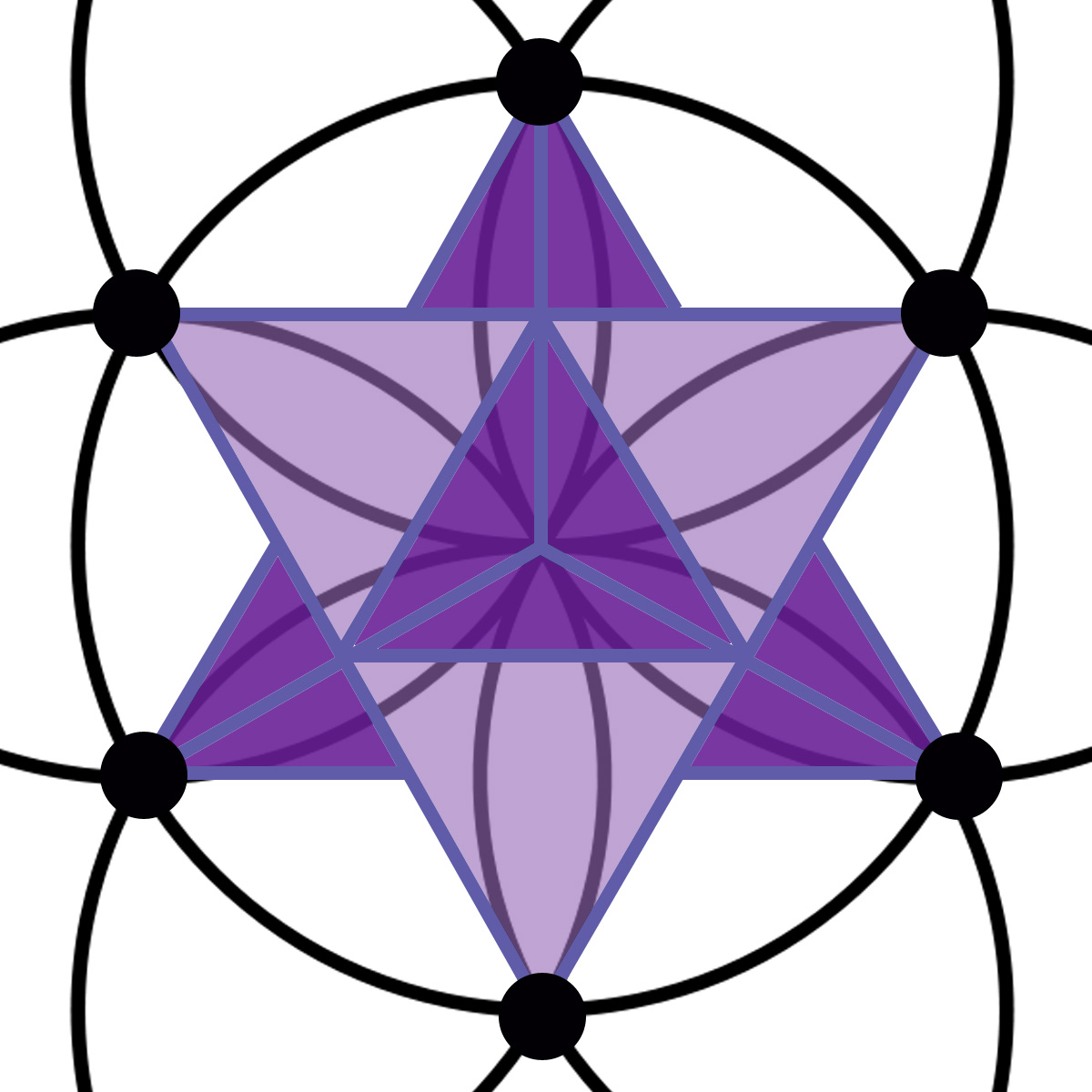 The seed of life and the vesica piscis purplemerkaba purplehexagramhexagon buycottarizona